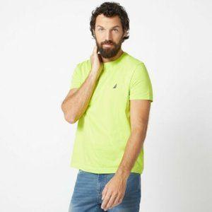 Nautica Crew Neck Lime T-Shirt Men's Medium NEW